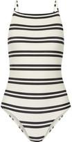 Vix Classic Drop Cutout Striped Swimsuit - Off-white