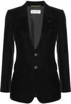 Saint Laurent Angie Velvet Blazer - Black