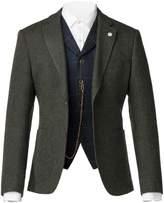 Gibson Green Textured Weave Wool Jacket