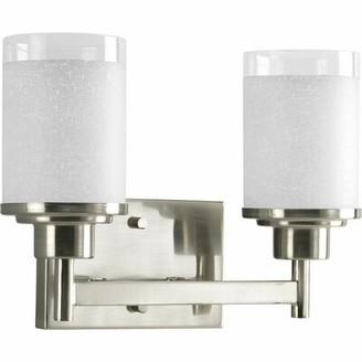 Ebern Designs Nash 2 - Light Brushed Nickel Vanity Light Ebern Designs
