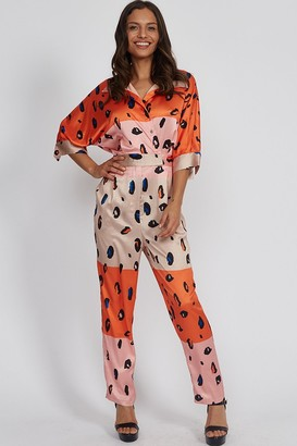 Liquorish Animal Print Jumpsuit