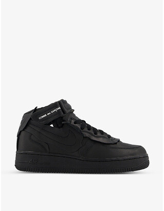 Comme des Garcons Nike x Air Force 1 mid-top leather trainers
