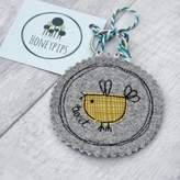 Honeypips Fabric Birdy Key Ring