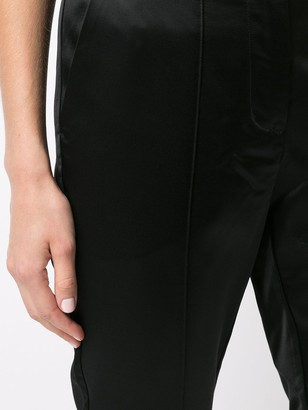 Josie Natori Satin Slim Ankle Trousers