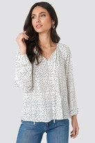 NA-KD Balloon Sleeve Dotted Blouse