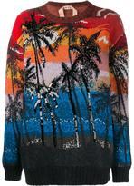 No.21 palm tree sweater