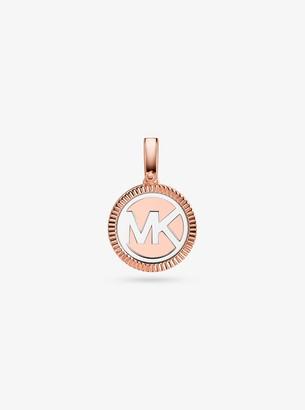 Michael Kors Precious Metal-Plated Sterling Silver Logo Charm