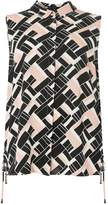 Dorothy Perkins DP Curve Multi Coloured Geometric Print Sleeveless Shirt