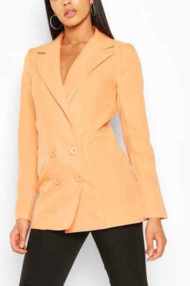 boohoo Tall Double Breasted Woven Blazer