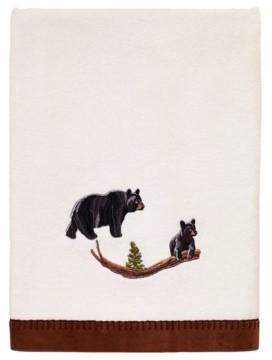Avanti Black Bear Lodge Bath Towel Bedding