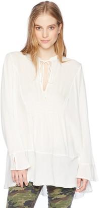 Silver Jeans Co. Women's Sophia Flowy Tunic Peasant Top