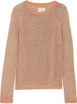 Michelle Mason Metallic open-knit sweater