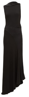 Atlein - Cutout-back Stretch-crepe Dress - Womens - Black