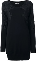 Patrizia Pepe lace detail sweater dress