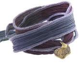 Catherine Michiels Zinnia Bronze Charm & Silk Bracelet Wrap