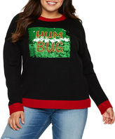 It's Our Time IT S OUR TIME Bah Hum Bug Reversible Sequin Sweater-Juniors Plu