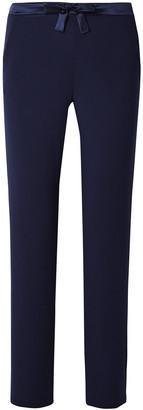 I.D. Sarrieri Satin-trimmed Stretch Modal-blend Jersey Pajama Pants