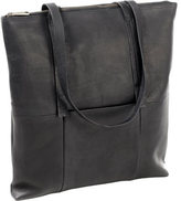 Clava Women's Vertical Leather Nana Tote