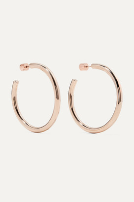 Jennifer Fisher Baby Lilly Rose Gold-plated Hoop Earrings - one size