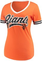 New Era Women's 5th & Ocean by Orange San Francisco Giants Baby Jersey Contrast Sleeve T-Shirt
