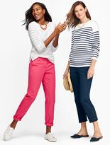 Talbots Bubble-Textured Sweater-Colorblocked Stripes