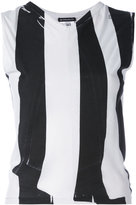 Ann Demeulemeester striped cut-out tank
