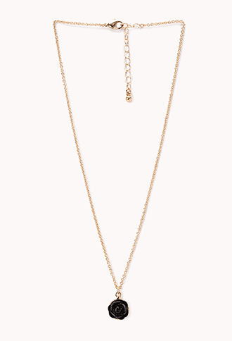 Forever 21 Romantic Rose Necklace