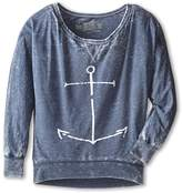 Original Retro Brand The Kids - Anchor Burnout Long Sleeve Tee Girl's T Shirt