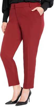 ELOQUII Venice Crepe Slim Trousers