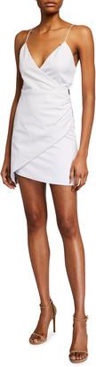 Alice + Olivia Ashanti Faux-Wrap Side-Zip Dress
