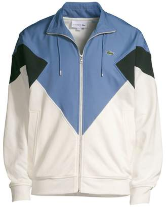 Lacoste Pique Fleece & Diamond Taffeta Colorblock Jacket