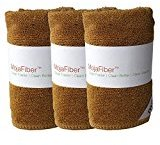 "Plush MojaFiber Microfiber Face Cloth: Ultra Dense 3 Pk - 12""x12""