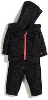 Billieblush Two-Piece Metallic Velour Track Suit Set, Size 12-18 Months