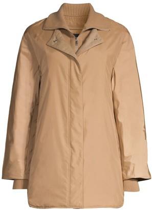 Lafayette 148 New York Mackay Knit Collar Coat
