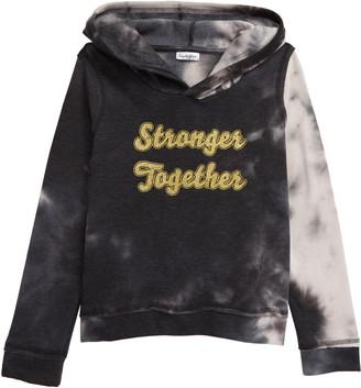 Love, Fire Tie Dye Hooded Sweatshirt