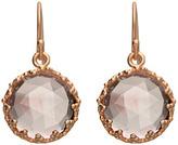 Indulgems Round Pink Amethyst Drop Earrings