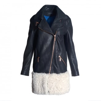 Cédric Charlier Black Leather Jacket for Women