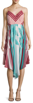 Plenty by Tracy Reese Striped Scarf Dress