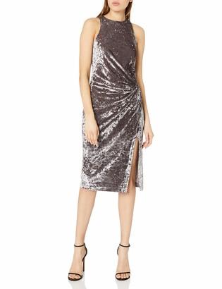 XOXO Women's Crushed Velvet Front Twist Dress