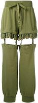 Fenty X Puma - suspender pants - women - Cotton/Polyester/Spandex/Elastane - M