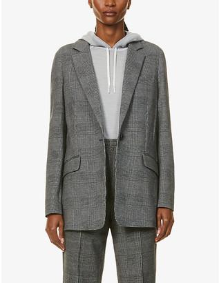 Rag & Bone Ames check-print single-breasted stretch-cotton blazer