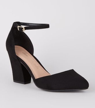 New Look Wide Fit Suedette Round Toe Court Shoes