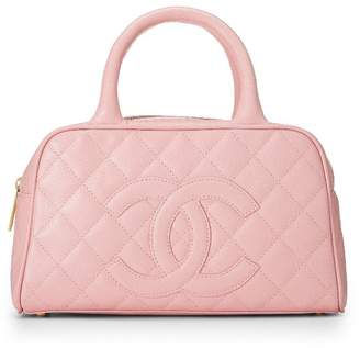 Chanel Pink Quilted Caviar Bowler Mini