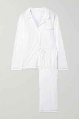 Eberjey Romy Organic Pima Cotton-jersey Pajama Set - White
