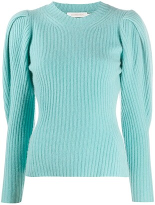 Zimmermann Balloon Sleeved Knitted Cashmere Jumper