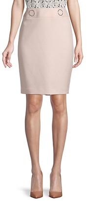 Calvin Klein Back-Zip Skirt