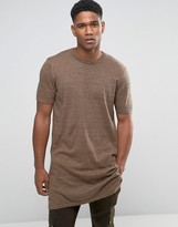 Asos Extreme Longline Knitted T-shirt with Side Splits