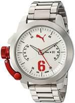 Puma Quartz Stainless Steel and Polyurethane Watch, Color:Black (Model: PU103781006)