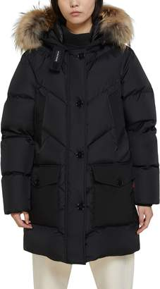 Woolrich Down Parka with Genuine Coyote Fur Trim