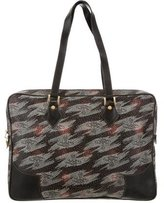 Vivienne Westwood Leather-Trimmed Printed Bag